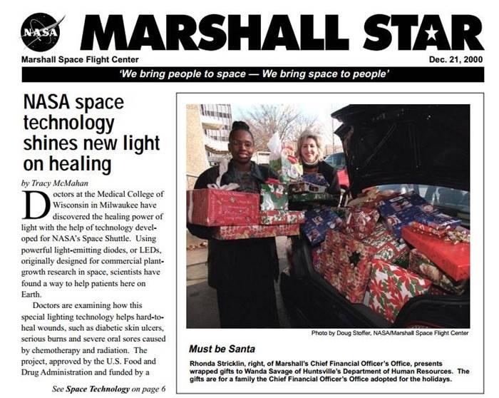 Luz Led: descubrimiento y desarrollo por la NASA